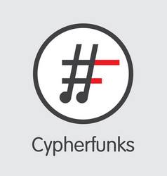 Cypherfunks virtual currency funk icon vector