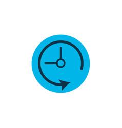 Deadline icon colored symbol premium quality vector