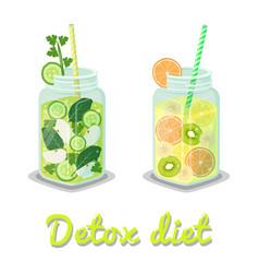 detox diet poster mug drink vector image