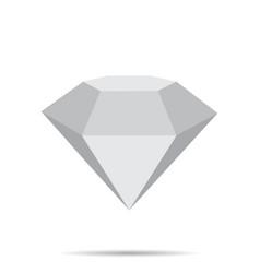 diamond icon with shadow vector image