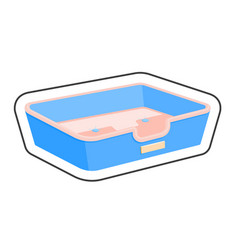 Dog bed cartoon sticker vector