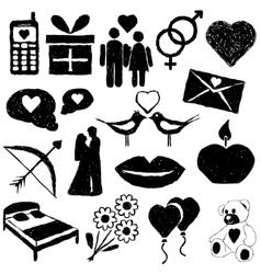 Doodle valentine images vector