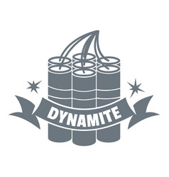 Dynamite logo vintage style vector