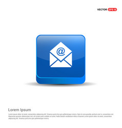 Email icon - 3d blue button vector