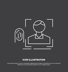 finger fingerprint recognition scan scanning icon vector image