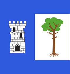 Flag of la tour-du-pin in isere of vector