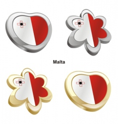 flag of Malta vector image