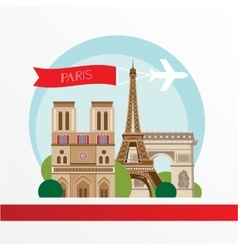 Flat stylish for Paris France vector image