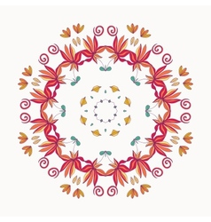 floral roun ornament vector image