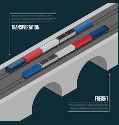 freight transportation isometric banner vector image