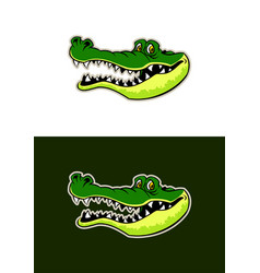 gator head sticker vector image
