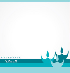 greeting for celebrate diwali concept vector image