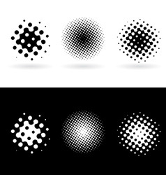 Halftone icons vector