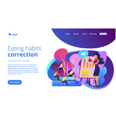 Health and nutrition workshop concept landing page vector