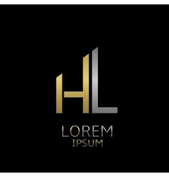 HL letters logo vector