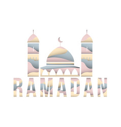 Holy ramadan cutting paper background eps 1 vector