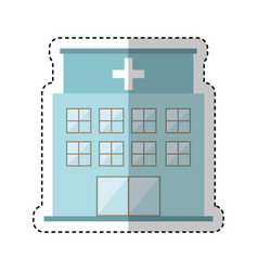 hospital building exterior icon vector image