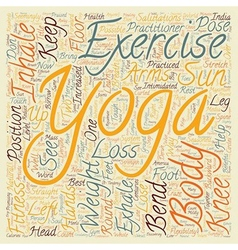 How to borrow from Yoga for Weight Loss text vector image