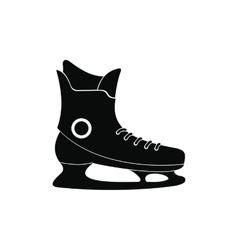 Ice skate black simple icon vector image