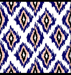 ikat ogee seamless pattern background vector image
