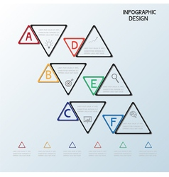 Infographic triangle template vector
