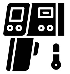 Infrared thermometer solid style icon vector