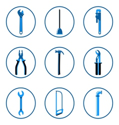 Instruments icons set 1 vector image