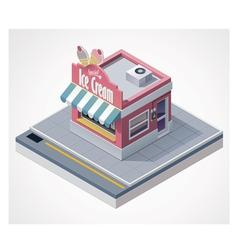 Isometric ice cream store vector