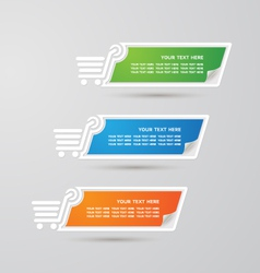 Label Colorful Paper shopping set vector image