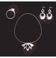 Lady jewels set eps10 vector