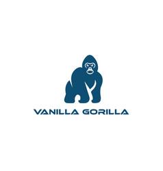 logo template featuresgorilla logo design vector image
