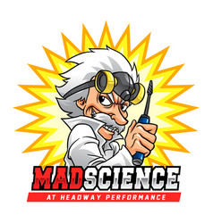 Mad science professor vector