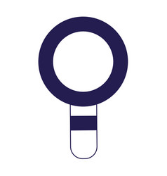magnifying glass search find discovery icon vector image