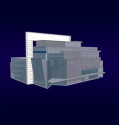 modern office building with a glass facade vector image