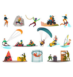 modern sports and entertainments set vector image