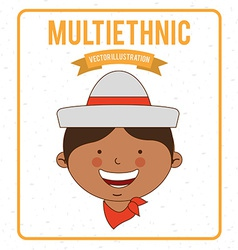 Multiethnic design vector