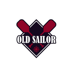 nautical seafarer marine sea sailor icons vector image