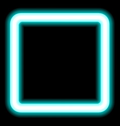 Neon square frame for photos and presentation vector