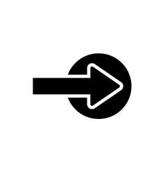 next icon forward icon vector image