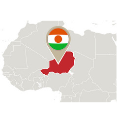 Niger on world map vector