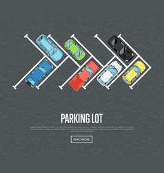 Parking lot poster in flat style vector