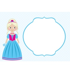 Princess Card vector image