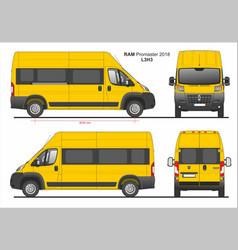 Ram promaster passenger van l3h3 2018 vector