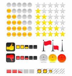 rating system vector image