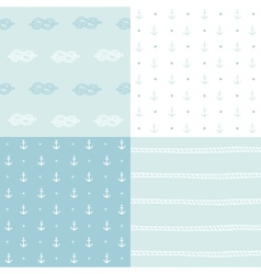 Retro anchor pattern set vector image