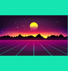retro futuristic background vector image