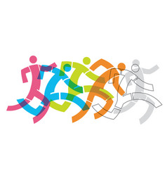 runner fitness people concept vector image