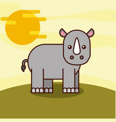 safari animals cartoon vector image