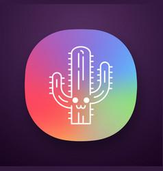 saguaro app icon vector image