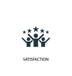 satisfaction icon simple element vector image